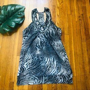 Tops - Grey Animal Print Top